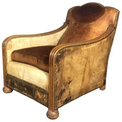 1930s Otto Schultz Attributed, Leather Club Chair, Sweden