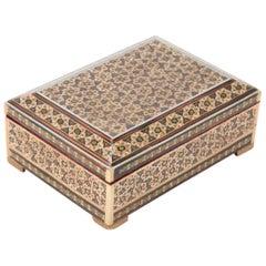 Persian Tessellated Bone and Inlaid Wood Box