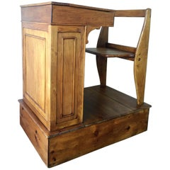1940s Children's Adjustable Spanish School Desk in Wood