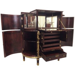 Mahogany Regency Bar Cabinet or Side Cabinet