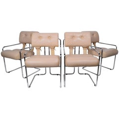 Pace Collection Tucroma Dining Chairs Designed by Guido Faleschini, Set of Four