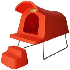 Michael Young Contemporary Orange Plastic Magis Dog House Suspended with Steps