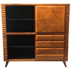 Vintage Art Deco Cabinet Secretary Bureau Design 1940 Period