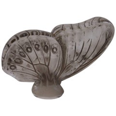 French Art Deco Rene Lalique Large Butterfly Glass Cachet 1919