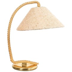 Minet Style Table Lamp Made from Rope and Brass, France, 1950