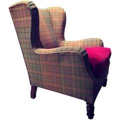 Vintage Bergere Armchair Design, 1960 Etro Pierre Frey