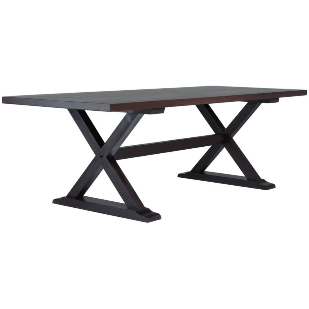 Bespoke X-Frame Wenge Table