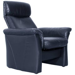 Designer Chair Leather Black Relax Function Couch Modern