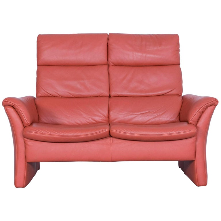 himolla zerostress two seat sofa leather orange relax one seat couch for sale at 1stdibs. Black Bedroom Furniture Sets. Home Design Ideas