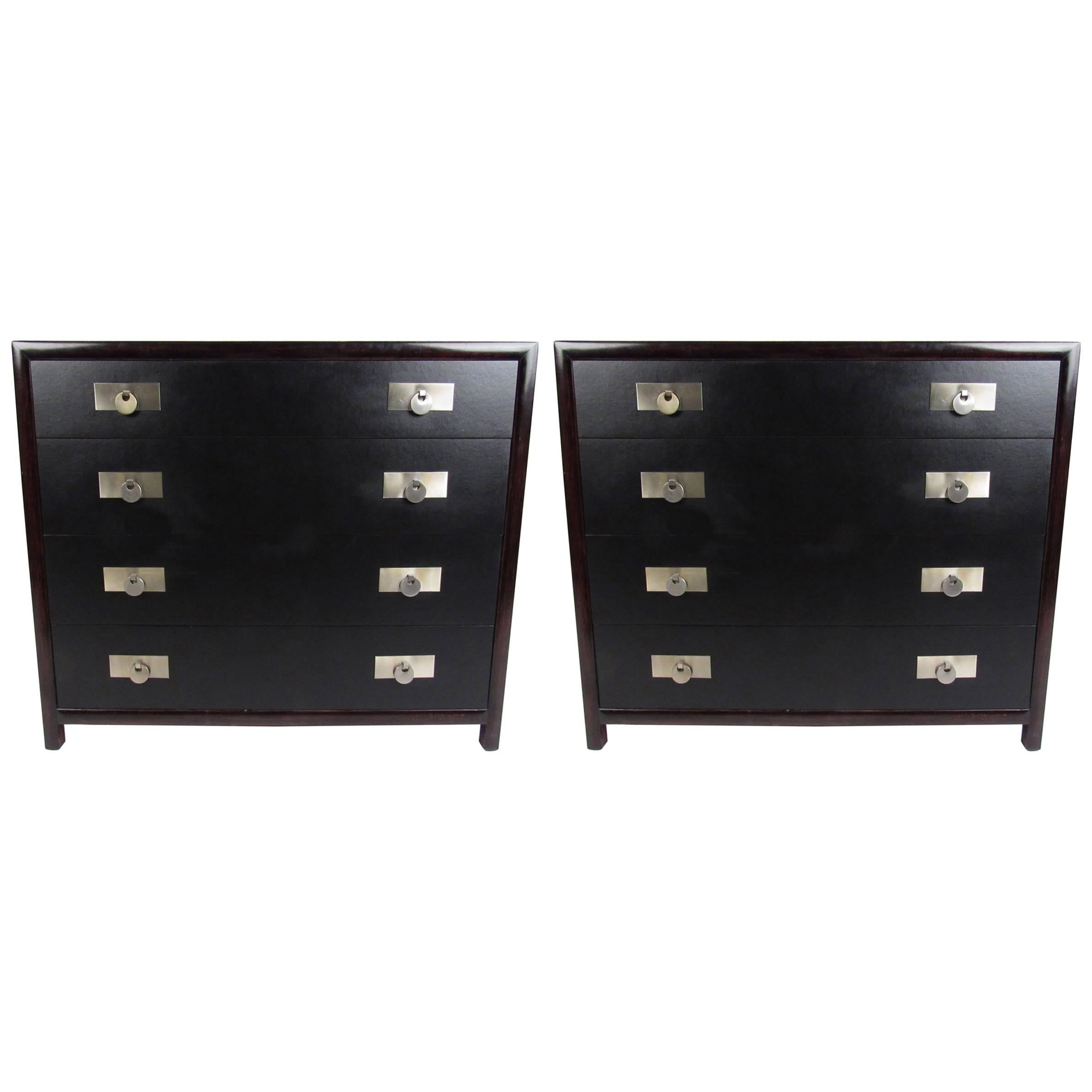 Pair of Vintage Modern Baker Dressers by Michael Taylor