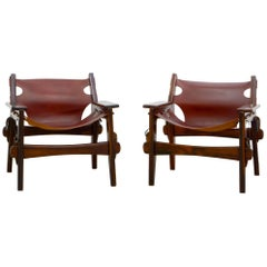Pair of Kilin Armchairs, Sergio Rodrigues, Brazilian, Midcentury