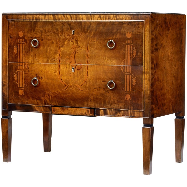 Small Mid 20th Century Birch Decorative Chest Of Drawers