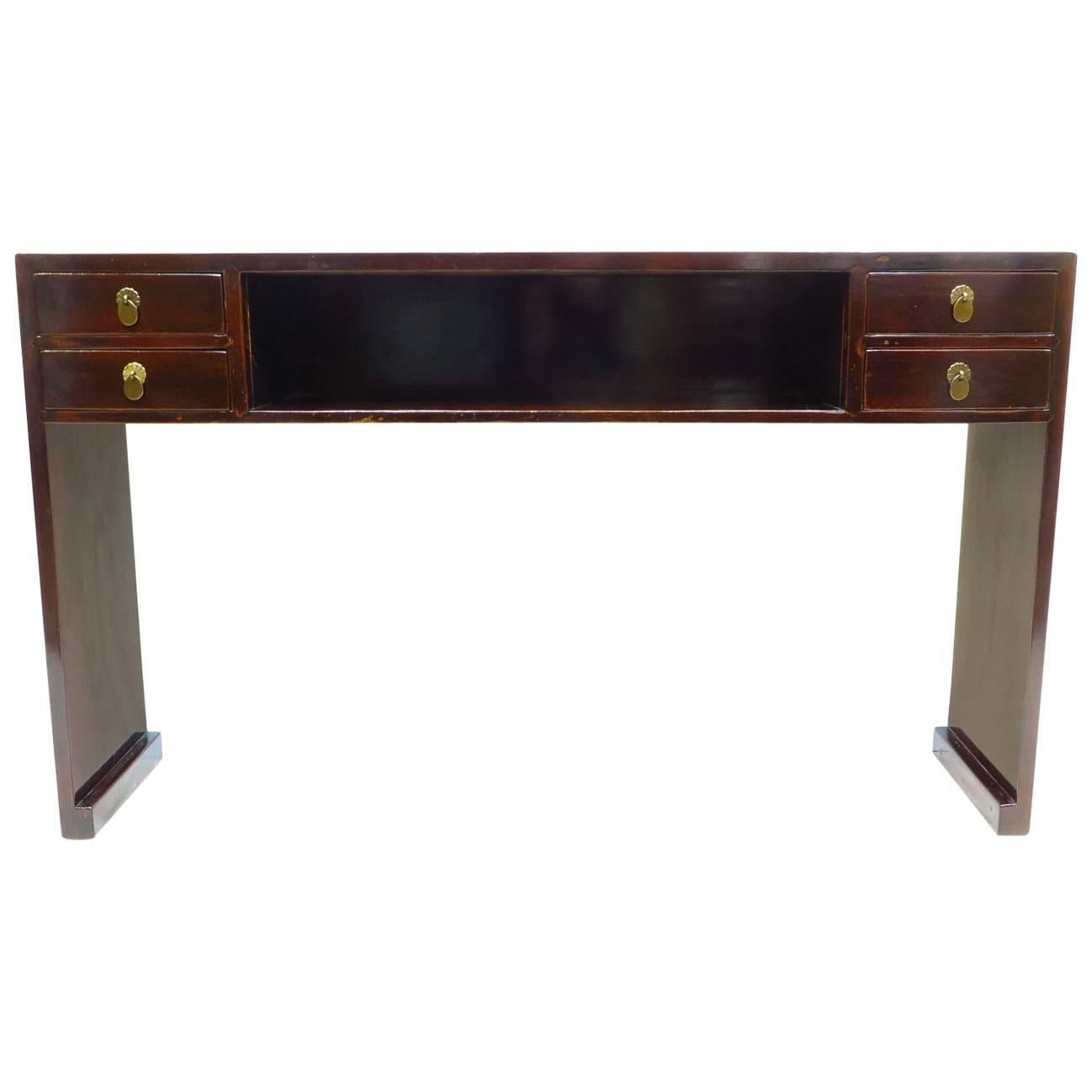 19th Century Compartment Console Table