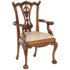 Chippendale Style Carved Doll Chair in Wood