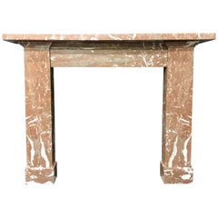 Victorian Red Rossa Marble Fireplace Surround