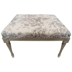 Swan Fabric Design Gustavian Bench