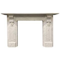 Large Period Marble Fireplace Surround