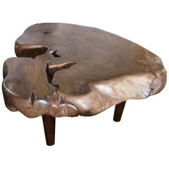 Andrianna Shamaris Organic Midcentury Style Teak Coffee Table or Side Table