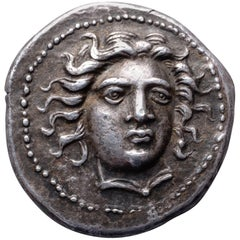 Ancient Greek Silver Drachm from Larissa, 400 BC