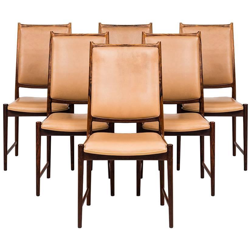 Torbjørn Afdal High Back Dining Chairs Model Darby by Nesjestranda Møbelfabrik