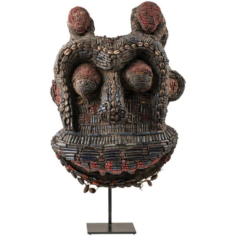Beaded Gorilla Dance Headdress, Cameroon Grasslands