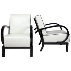 Pair of Functionalism Armchairs from Czechoslovakia by Jindrich Halabala