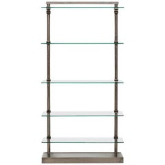 Industrial Shelf in Glass and Steel Produced in France