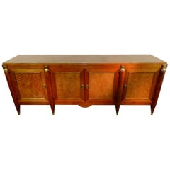 Maurice Jallot, luxurious Art Deco sideboard in mahogany, circa 1940