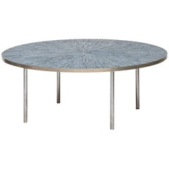 Coffee Table in Steel and Mosaic Produced in Denmark