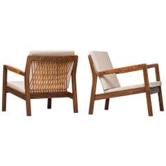 Pair of Easy Chairs Model Trienna Designed by Carl Gustaf Hiort Af Ornäs