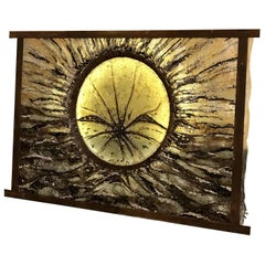 """End&Start"" Wall Light Sculpture in Iron, Resin, Glass & Soil by Giovanna Lysy"