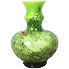 Vintage 1970s Opaline Florence Vase Designed by Carlo Moretti, Italy