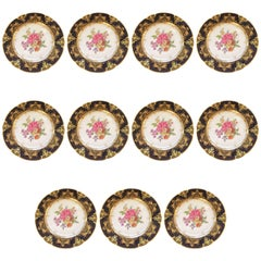 Fit for an Heiress Set of Eleven Dresden Dinner Plates