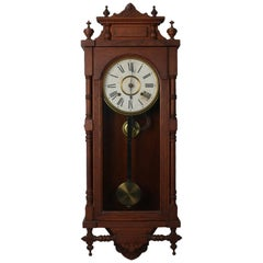 "Ansonia Oak ""Queen Elizabeth"" Time & Strike Regulator Clock, 19th Century"