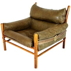 Leather lounge chair model Kontiki designed by Arne Norell for Norell AB Sweden