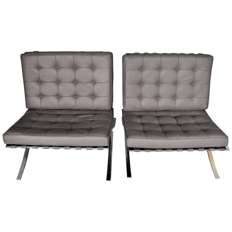 Pair of Barcelona Armchairs from Ludwig Mies van der Rohe