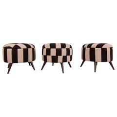 Ottoman, Pouf, Stools Upholstered in Vintage Cover from Mazandaran