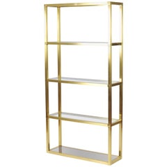 French 1970s Brass Etagere