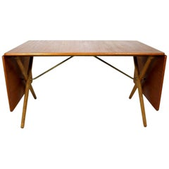 Scandinavian Dining Table with Cross-Leg, At-309 Hans J Wegner for Andreas Tuck