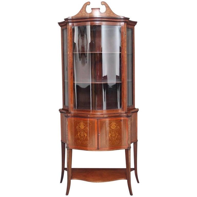 19th Century Mahogany Display Cabinet
