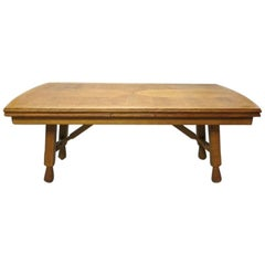 Extending Oak Dining Table by Guillerme et Chambron, France