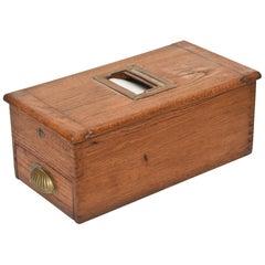 Antique Victorian Wood Voting Ballot Box