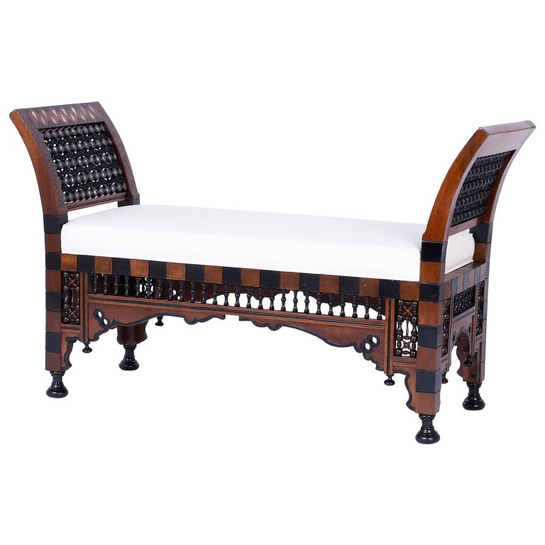 Syrian or moroccan bench for sale at 1stdibs Moroccan bench