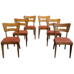 "Set of Six Iconic Mid-Century Modern Heywood-Wakefield ""Dog-Bone"" Dining Chairs"