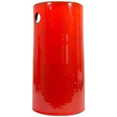 Amphora Perignem Umbrella Stand in Red Glazed Ceramic
