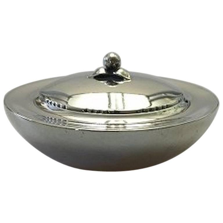 georg jensen sterling silver box with lid 145 for sale at 1stdibs. Black Bedroom Furniture Sets. Home Design Ideas