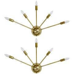 Sputnik Brass Sconces