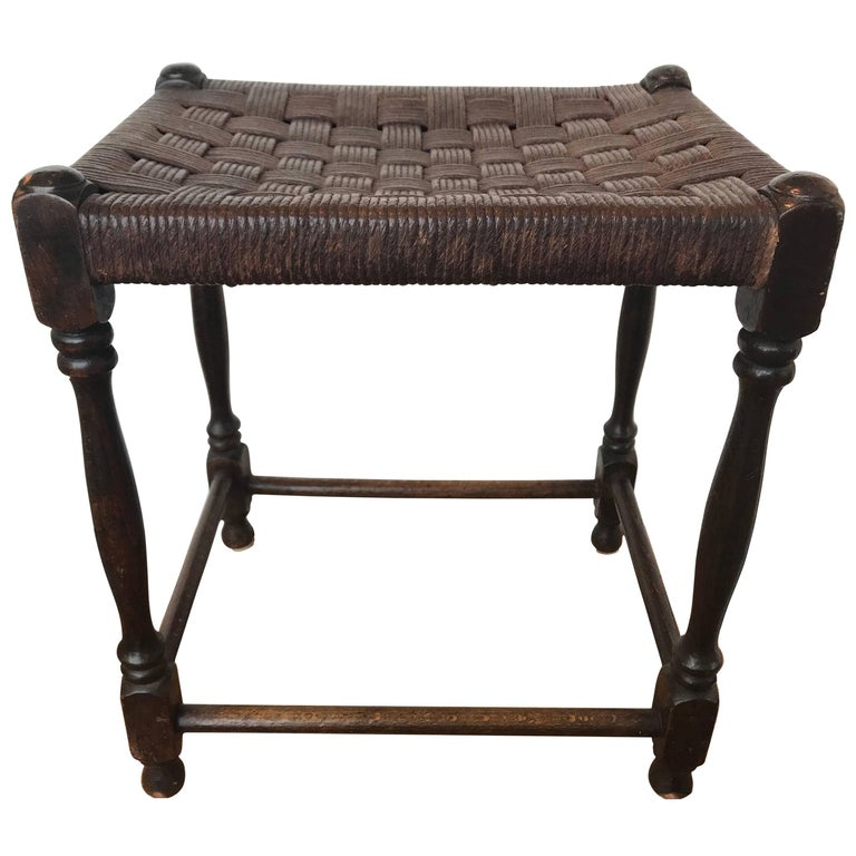Enjoyable 19Th Century Oak Stool With Leather Strapping Gmtry Best Dining Table And Chair Ideas Images Gmtryco