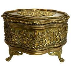 Antique French Gold Bronze Box, circa 1890-1910