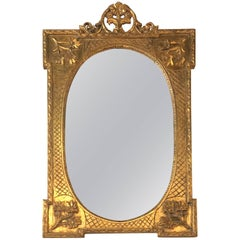 Vintage Ornate Floral Wall Mirror French Gold